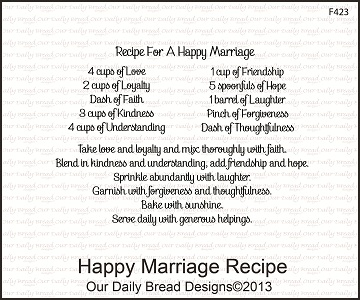 Stamps - Our Daily Bread Designs  Happy Marriage Recipe