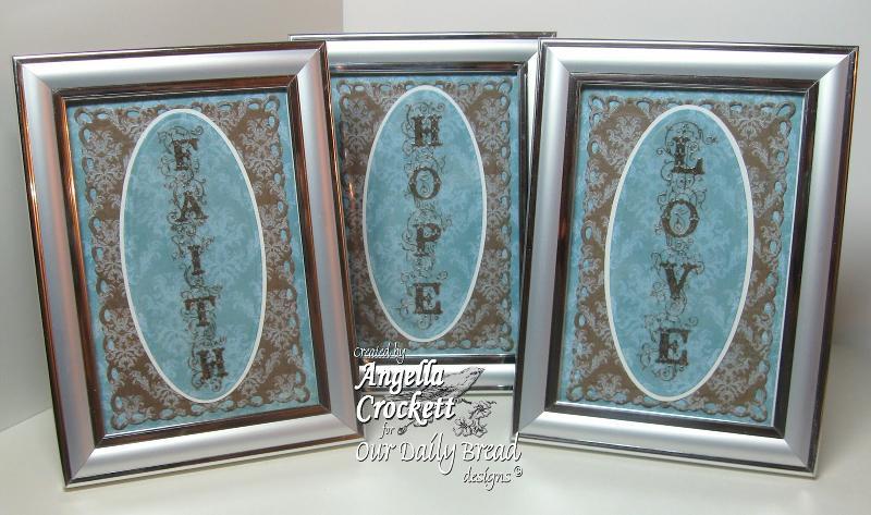 Our Daily Bread designs Faith, Hope, & Love Designer Angie Crockett