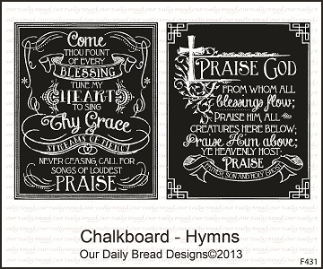 Our Daily Bread Designs Stamps Chalkboard - Hymns