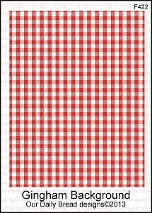 Stamps - Our Daily Bread Designs Gingham Background