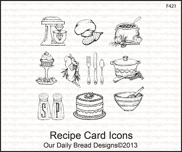 Stamps - Our Daily Bread Designs Recipe Card Icons