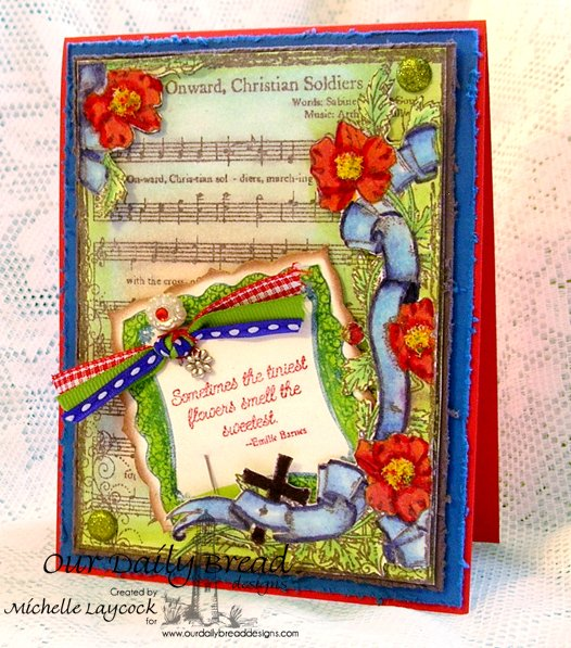 Our Daily Bread Designs April 2013 Release Hymn Collage, Romantic Floral Designs, Morning Glory