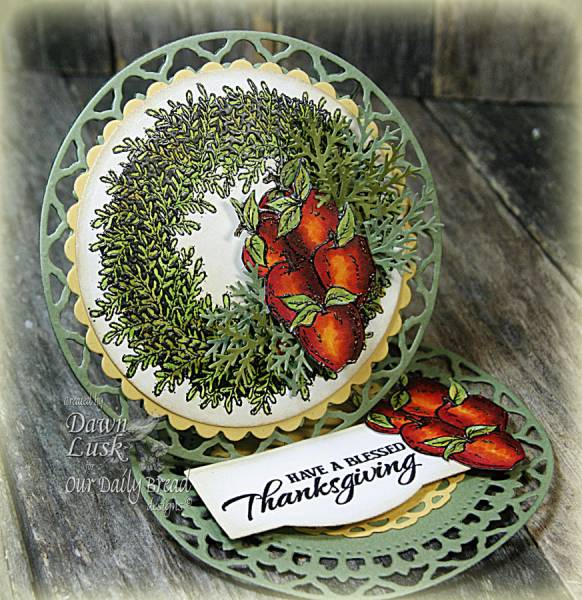"Our Daily Bread designs ""Apple Wreath"" Designer Dawn Lusk"
