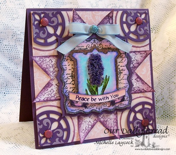 Our Daily Bread Designs April 2013 Release ODBD Exclusive Quatrefoil Design Die, Hyacinth, Romantic Floral Designs