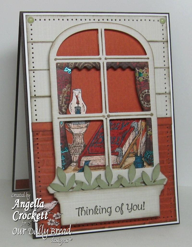 "ODBD Exclusive Spellbinders ""Windows"" Die Set, ""The Word of God"", ""Mini Tags 1"" Designer Angie Crockett"