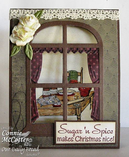 "ODBD Exclusive Spellbinders ""Windows"" Die Set, ""Sweet Christmas Wishes"" Designer Connie McCotter"