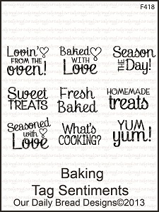 Stamps - Our Daily Bread Designs Baking Tag Sentiments