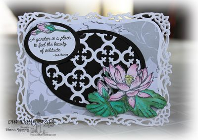 Stamps - Our Daily Bread Designs Morning Glory, ODBD Quatrefoil Pattern Die, Lotus