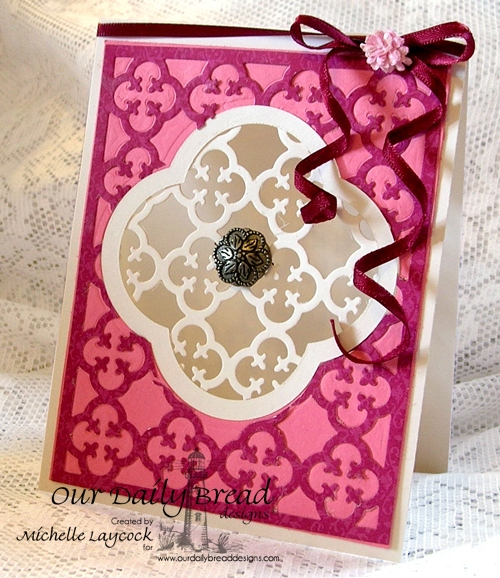 Our Daily Bread Designs April 2013 Release ODBD Exclusive Quatrefoil Design Die, Quatrefoil Pattern Die