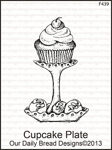 Stamps - Our Daily Bread Designs Cupcake Plate