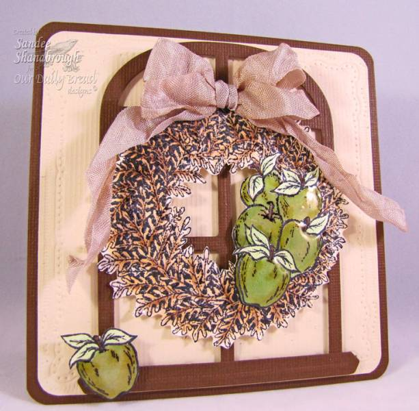 "Our Daily Bread designs ""Apple Wreath"" Designer Sandee Shanabrough"