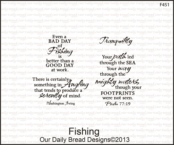 Stamps - Our Daily Bread Designs Fishing