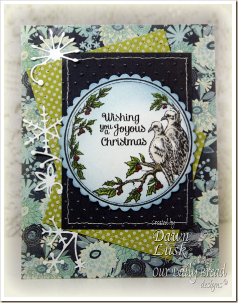 ODBD Turtle Dove Ornament Dawn