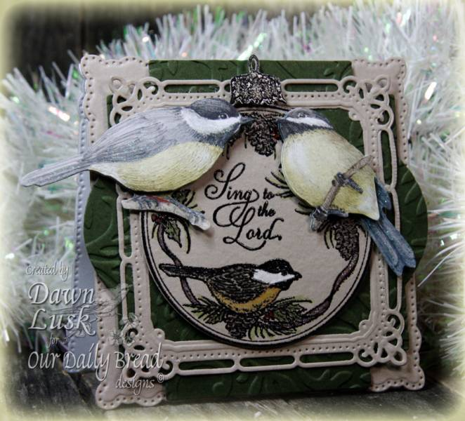 ODBD Chickadee Ornament Dawn