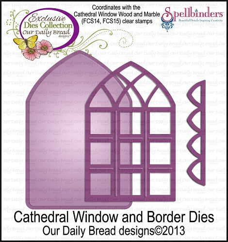 Dies - Our Daily Bread Designs Exclusive Cathedral Window and Border Die