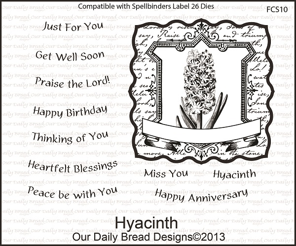 Our Daily Bread Designs April 2013 Release Hyacinth