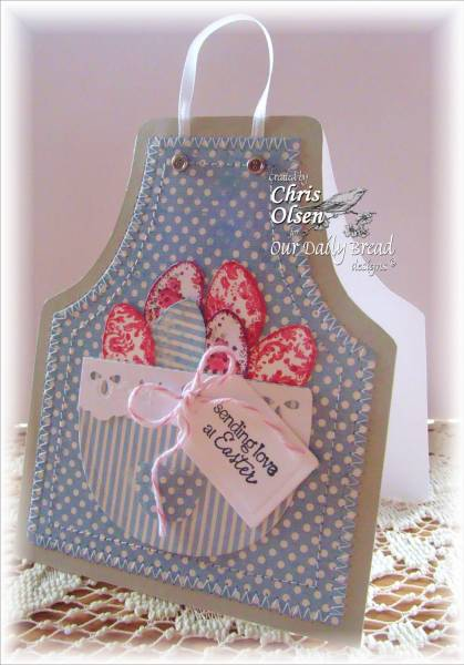 Our Daily Bread Designs Exclusive Apron and Tools Die, Happy Spring, ODBD Recipe Card and Tags Die