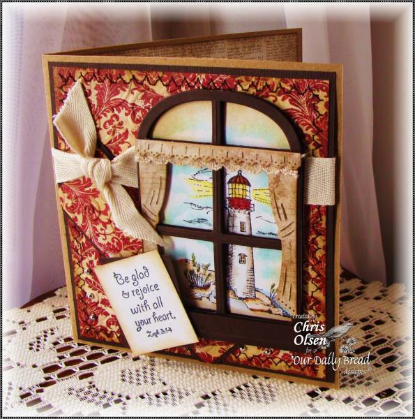 "ODBD Exclusive Spellbinders ""Windows"" Die Set, ""Warm Wishes"", ""Light of the World"" Designer Chris Olsen"