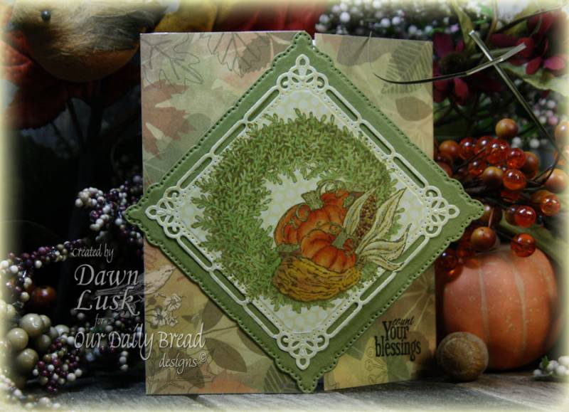 "Our Daily Bread designs ""Pumpkin Wreath"" Designer Dawn Lusk"