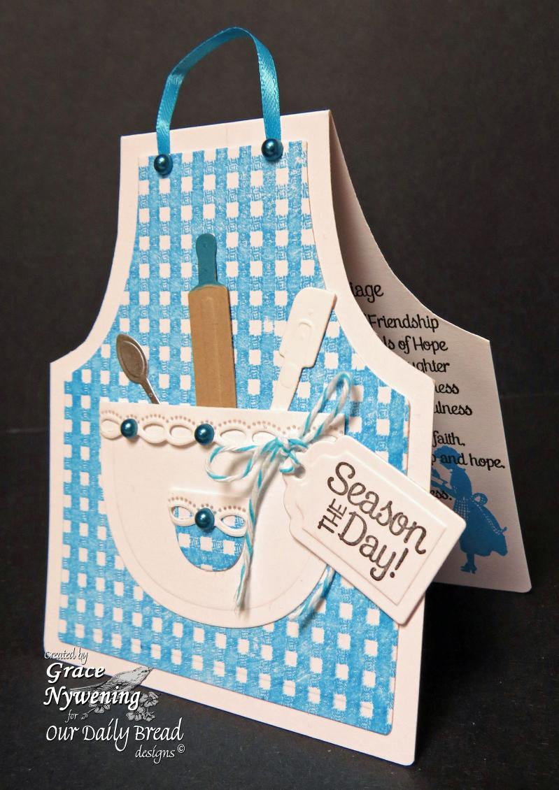 Our Daily Bread Designs Exclusive Apron and Tools Die, Baking Tag Sentiments ODBD Recipe Card andTags Die