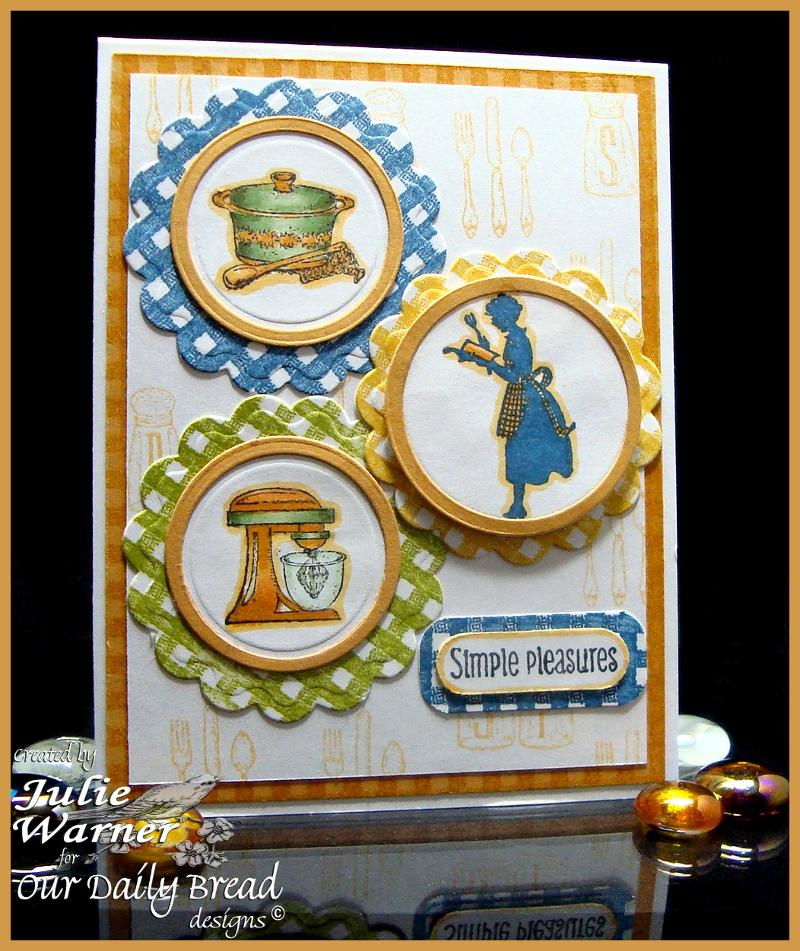 Stamps - Our Daily Bread Designs Gingham Background, Recipe Card Categories, Baking Gift Tags, ODBD Recipe Card and Tags Die
