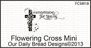 Stamps - Our Daily Bread Designs Flowering Cross Mini