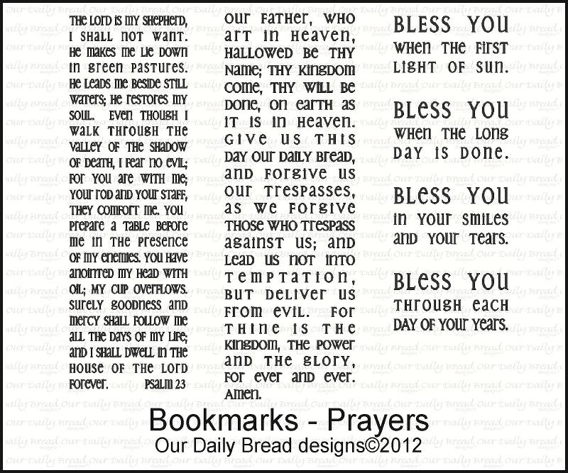 "Our Daily Bread designs ""Bookmarks-Prayers"""