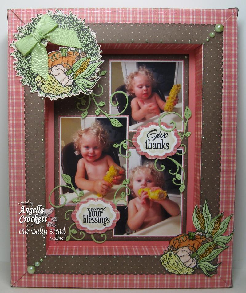 "ODBD ""Pumpkin Wreath"", Flower Soft ""Scrap It Frame It"" Designer Angie Crockett"
