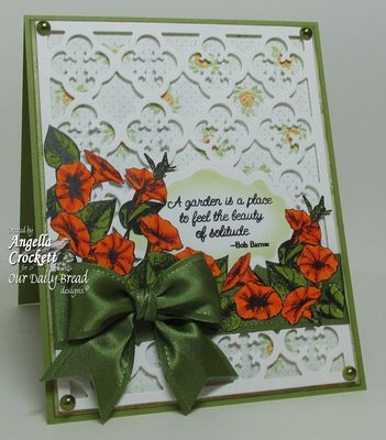 Stamps - Our Daily Bread Designs Morning Glory, ODBD Custom Quatrefoil Pattern Die
