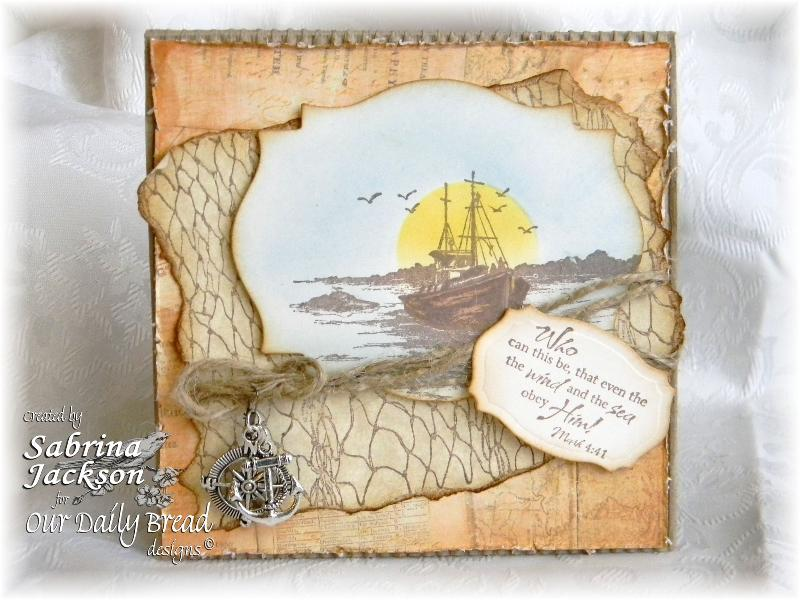 Stamps - Our Daily Bread Designs Fishing Net Background, The Waves on the Sea