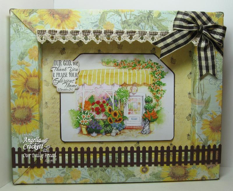 "ODBD ""Pumpkin Wreath"", Flower Soft Country Village, ""Scrap It Frame It"" Designer Angie Crockett"