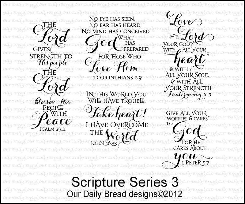 "Our Daily Bread designs ""Scripture Series 3"""