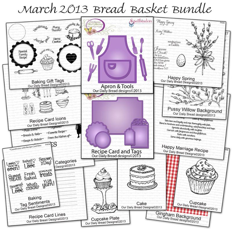 Stamps - Our Daily Bread Designs March Bread Basket Bundle