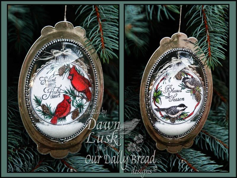 ODBD Chickadee and Cardinal Ornament Dawn