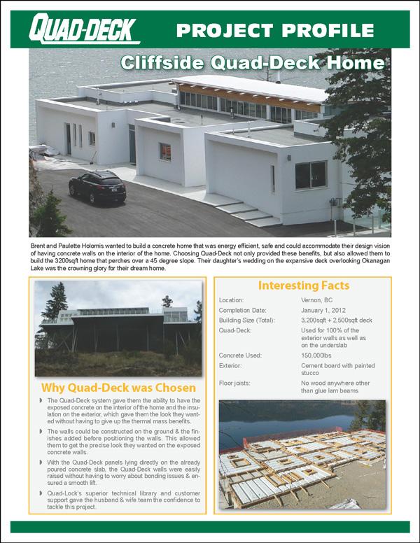 Quad-Lock Project Profile Cliffside Quad-Deck Home