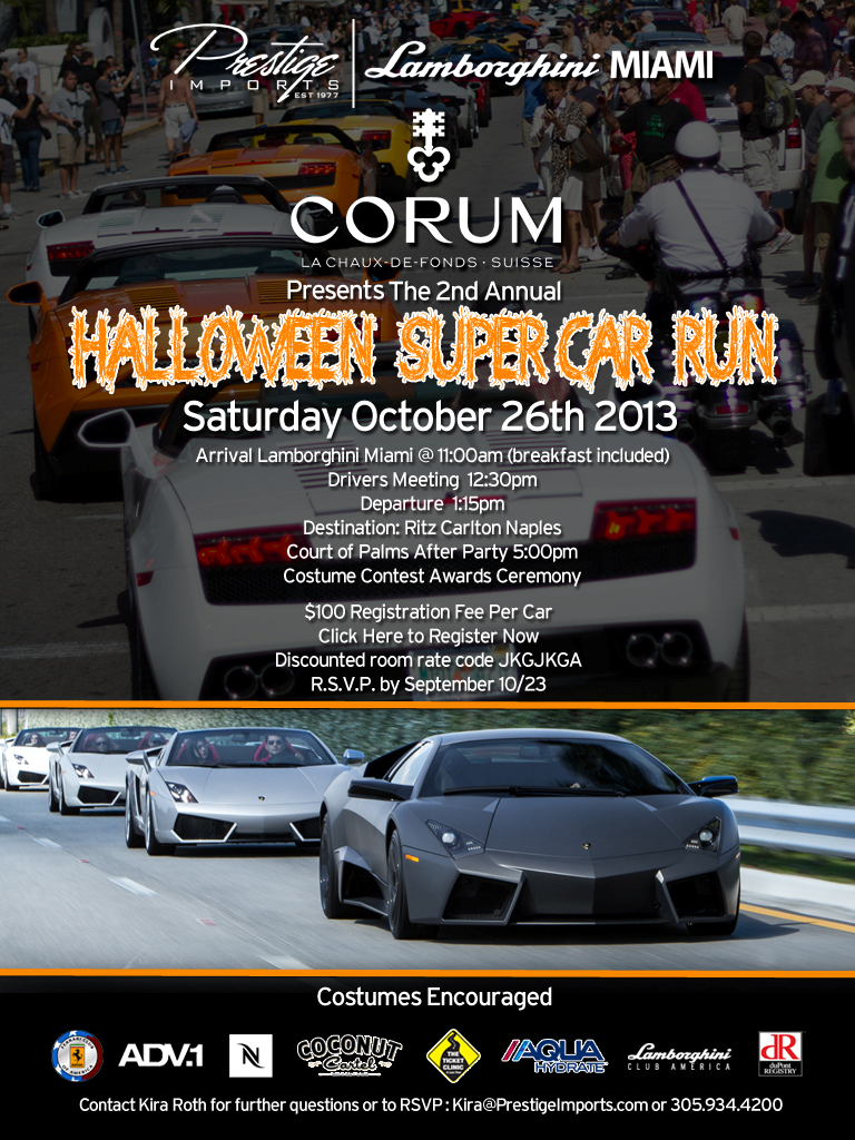 Halloween Super Car Run October 26th
