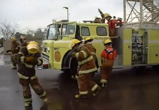 firefighters responding