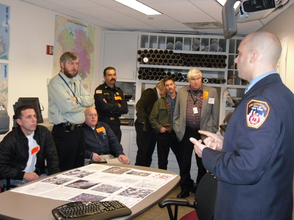 Map room at FDNY