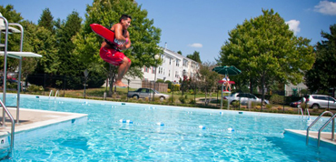 CPS Lifeguard Jumping into a pool
