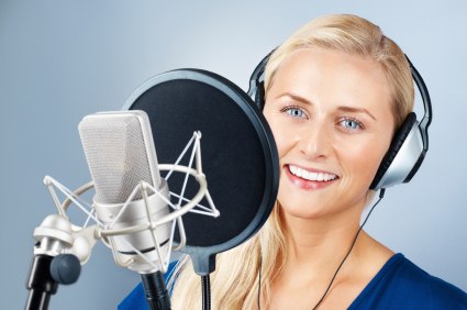 Voice Over Woman Blue