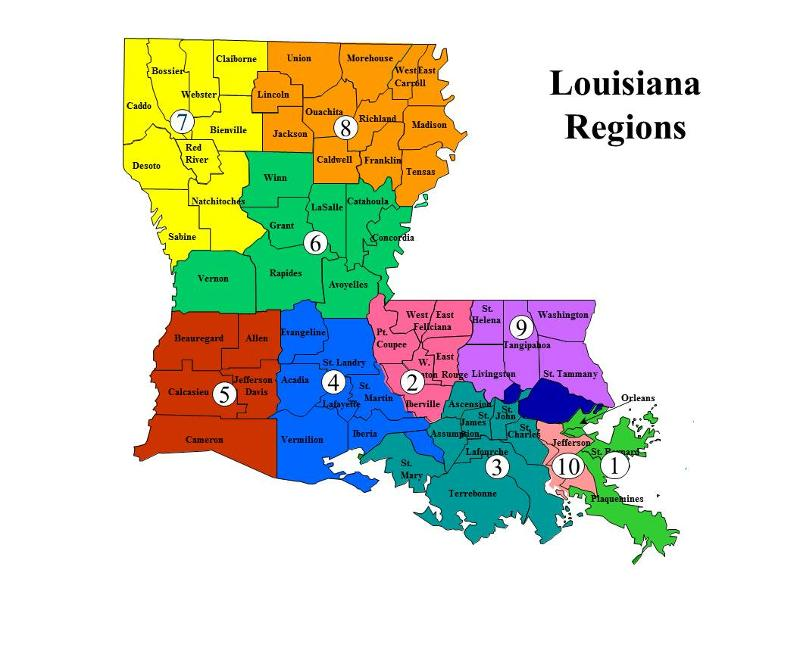 LaTEACH Regional Map