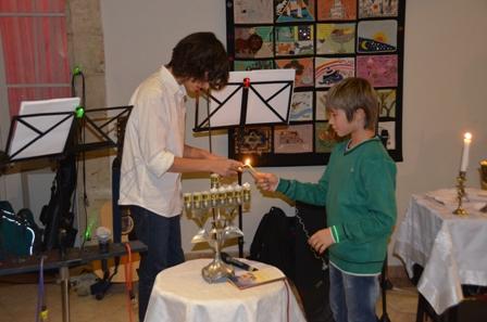 Lighting Hanuka Candles