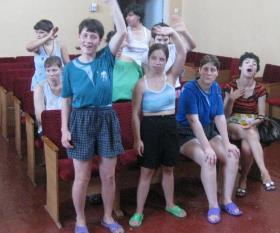 Needy children in Odessa