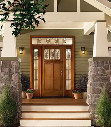 Front door of a craftsman style house.