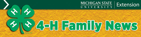4-H Family News header