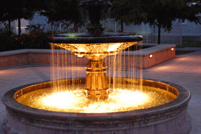 Ranch Fountain - Night
