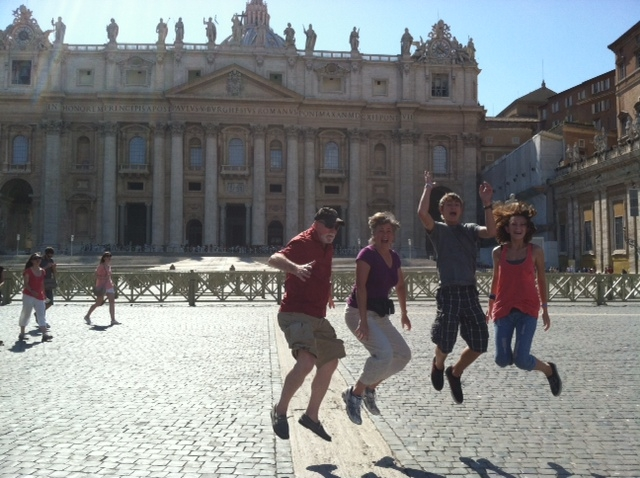 Jumping in St. Peter Square