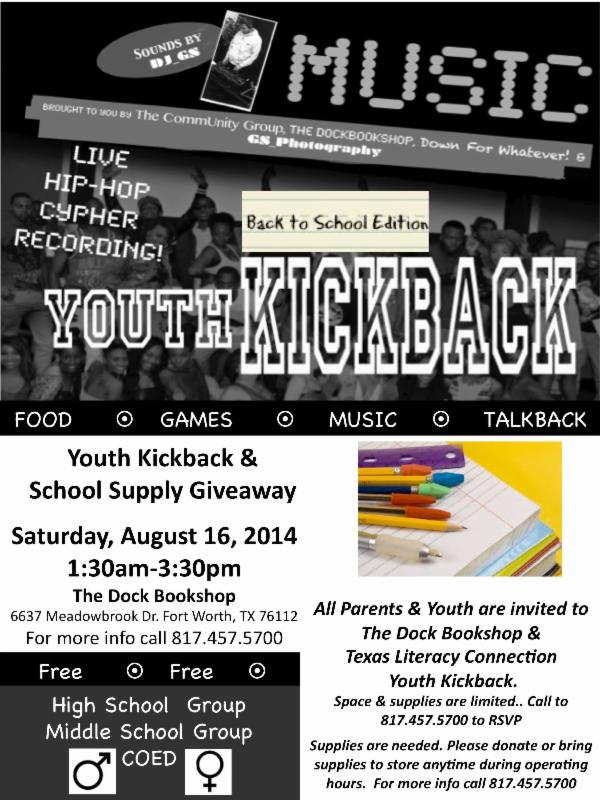 Youth KICKBACK - Back to School Edition & Supply Giveaway
