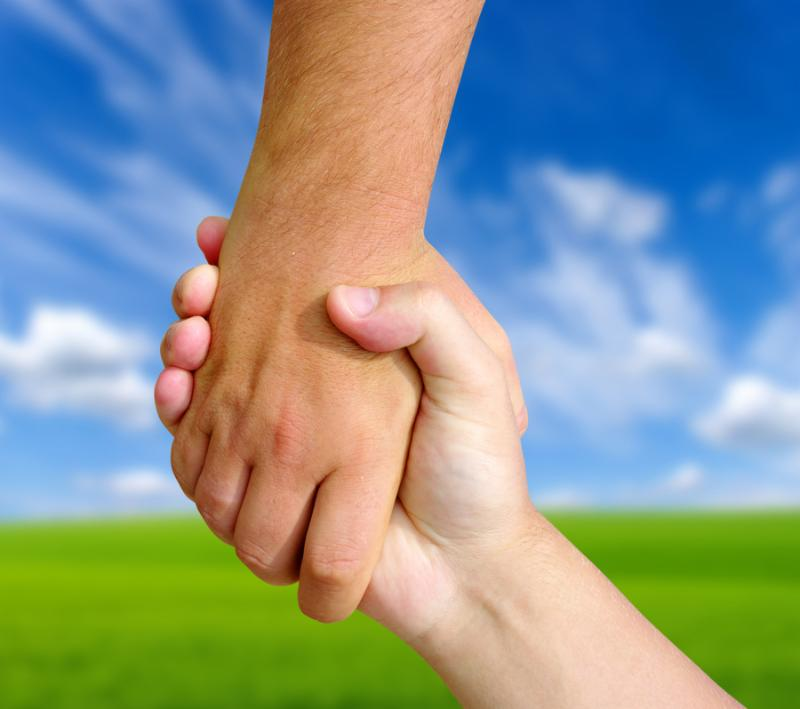 the helping hand on sky a  friendship