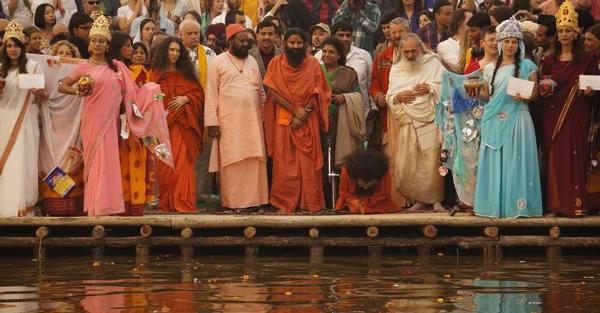 Patrick McCollum at Kumba Mela at the River Ganges